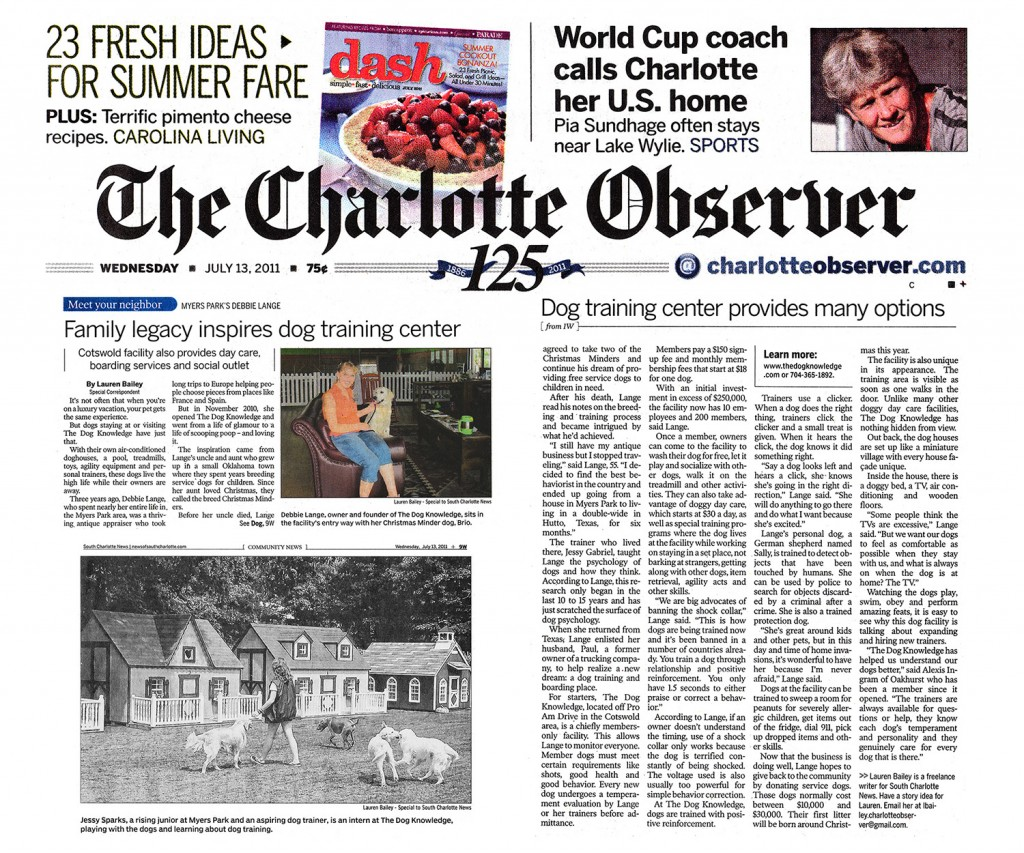 CharlotteObserver_TheDogKnowledge